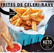 Keto Québec Frites de Celeri Rave congelées100% Québécois