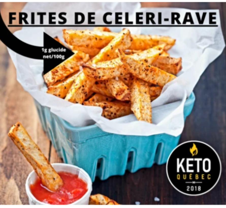 Frites de Celeri Rave congelées100% Québécois
