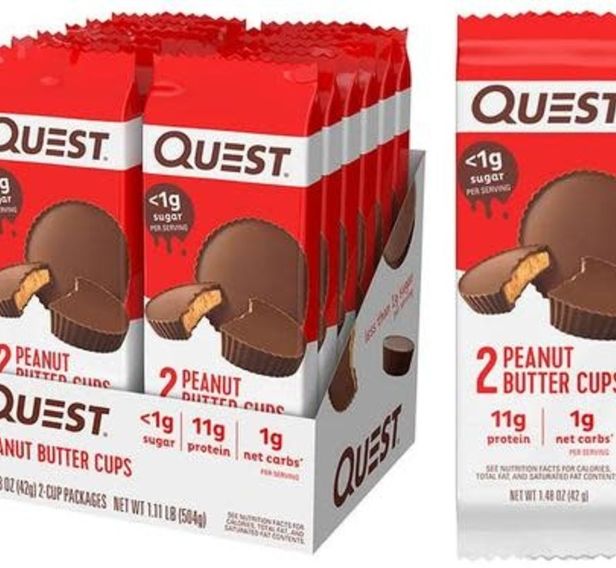 Quest Nutrition - Coupes de beurre d'arachide enrobées de chocolat