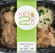 Keto2go Dinde et ragout festif Keto / Cétogène (glu: 4,11)