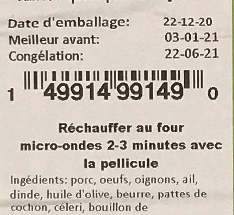 Dinde et ragout festif Keto / Cétogène (glu: 4,11)
