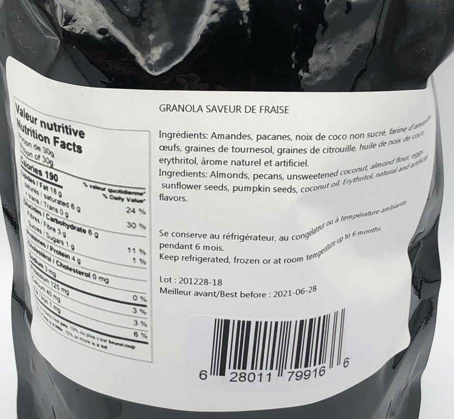 Granola cétogène à la fraise, 500g