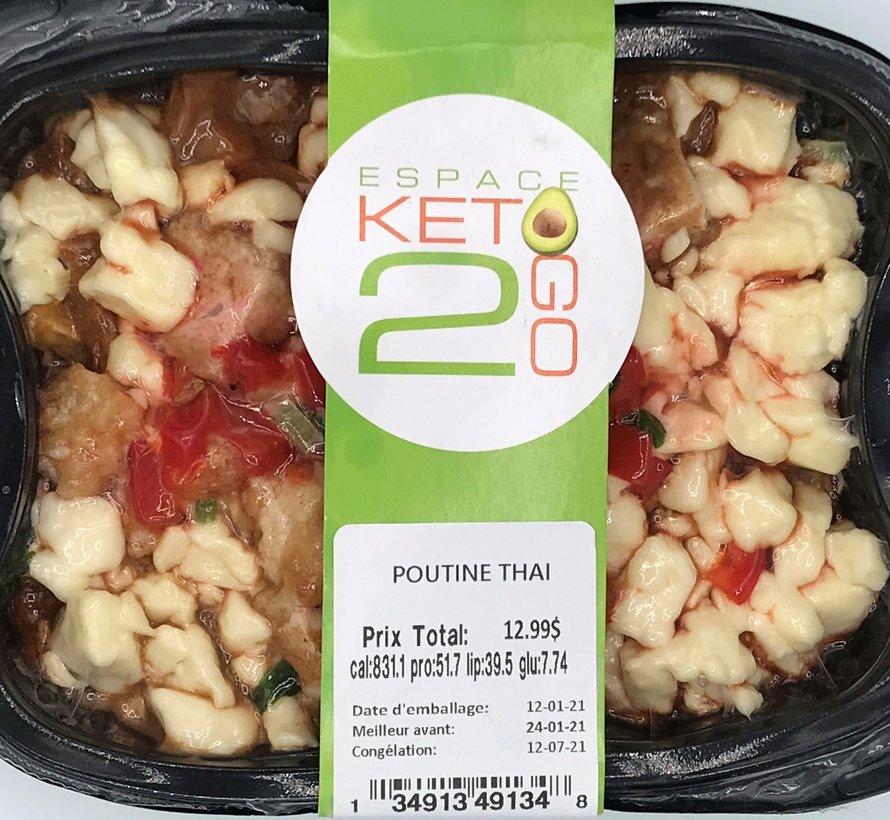 Poutine Thai Keto / Cétogène (glu: 7,74)