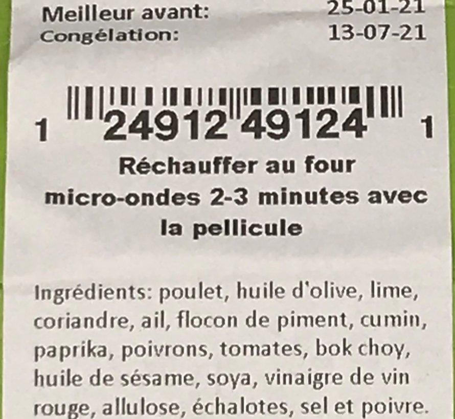 Poulet lime et coriandre Keto / Cétogène (glu: 4.61)