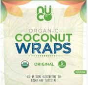 Nuco NUCO - Wraps de noix de coco bio, 70g (5 wraps)