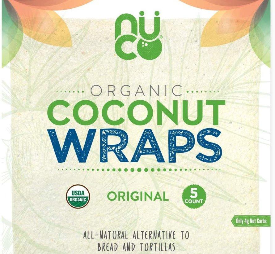 NUCO - Wraps de noix de coco bio, 70g (5 wraps)