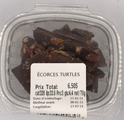Keto2go Écorces Turtles Keto / Cétogène (glu: 4.4)
