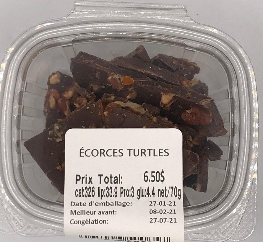 Écorces Turtles Keto / Cétogène (glu: 4.4)
