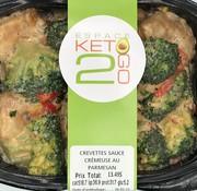 Keto2go Crevettes sauce crémeuse au parmesan Keto / Cétogène (glu: 5.2)