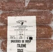 Dausyl Saucisses de boeuf (italienne douce x 4)