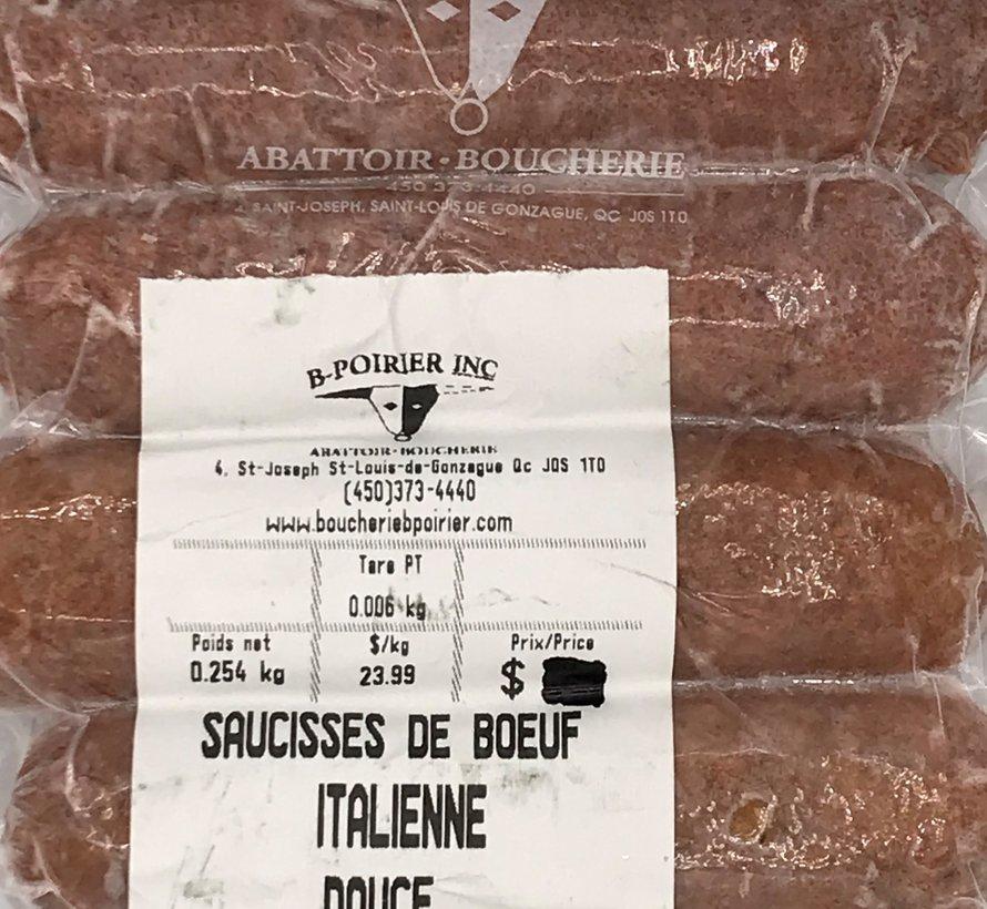 Saucisses de boeuf (italienne douce x 4)