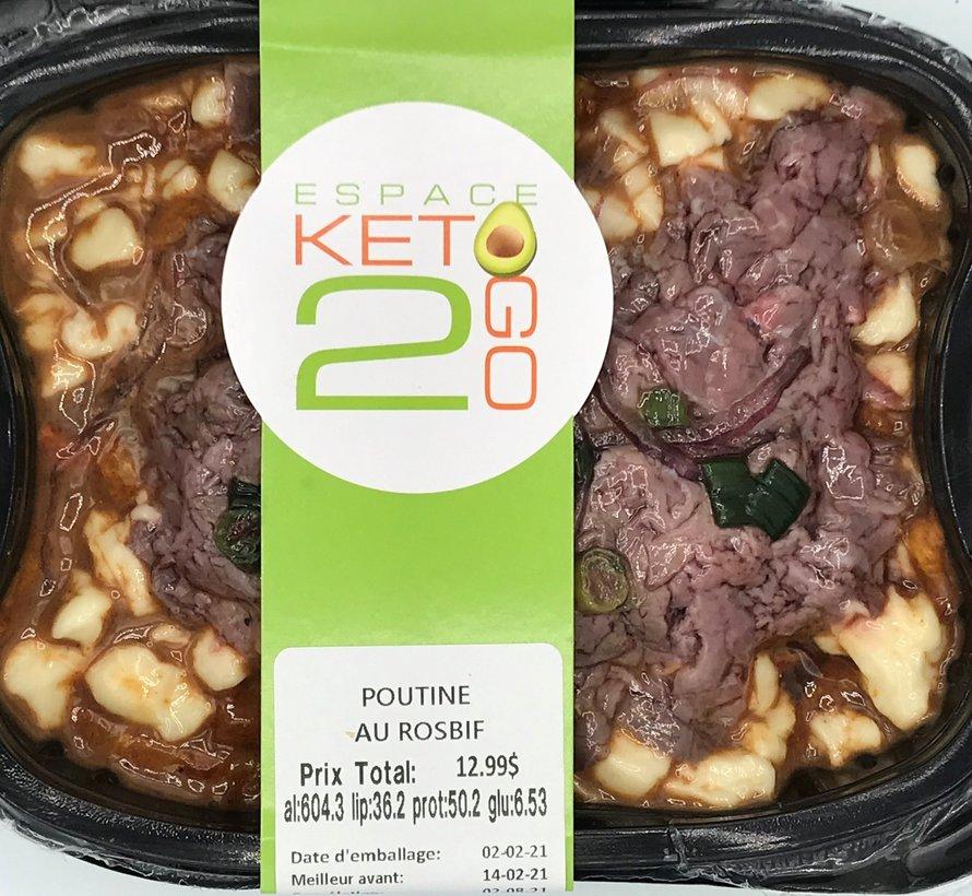 Poutine au rosbif Keto / Cétogène (glu: 6.53)