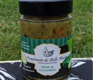 Compliment de belle maman Relish de concombres faible en glucides, 314ml