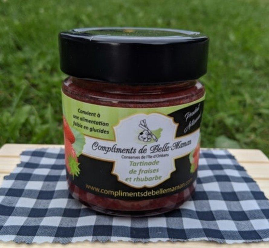 Tartinade de fraises et rhubarbe, 212ml