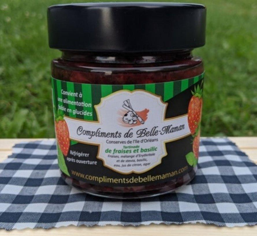Tartinade de fraises et basilic, 212ml