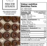 Perle D'or Beignes au chocolat Keto / Cétogène (glu: 2)