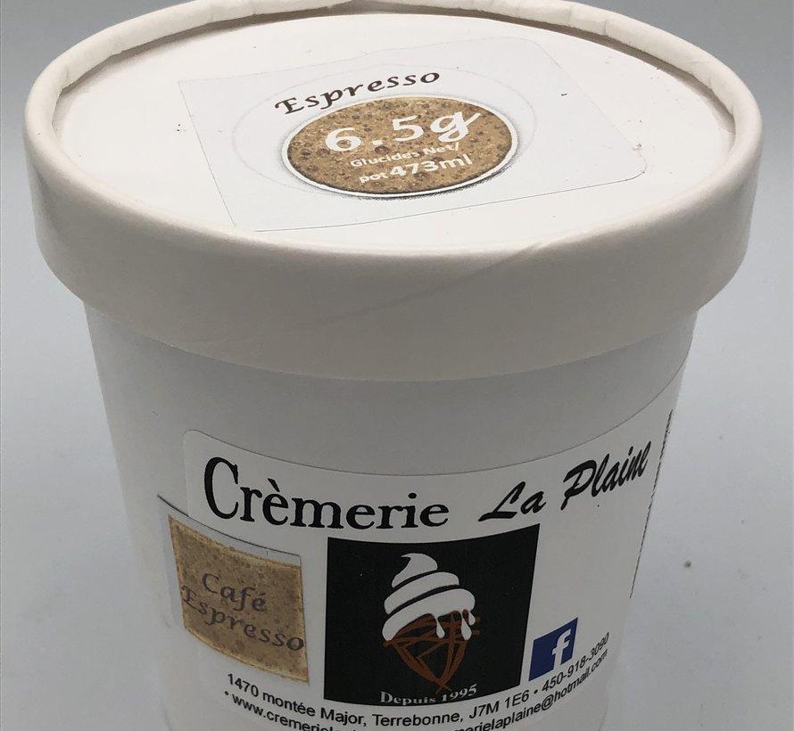 Crème glacée Keto / Cétogène (pot 473 ml) - Espresso