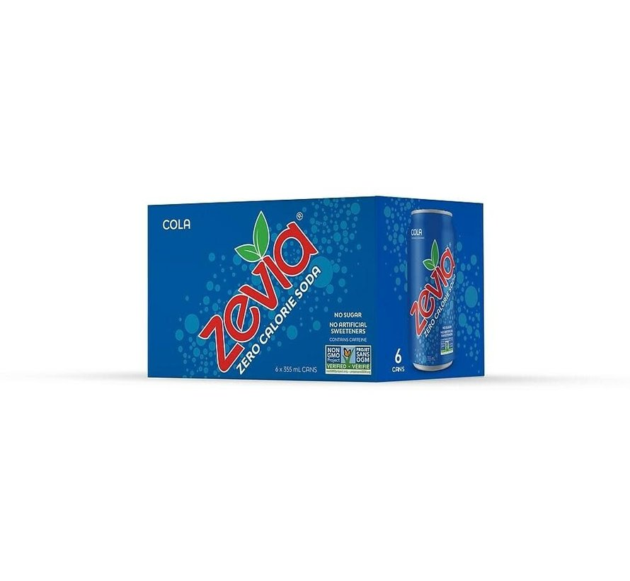 Zévia Soda Zéro Calorie 355ml (plusieurs saveurs)