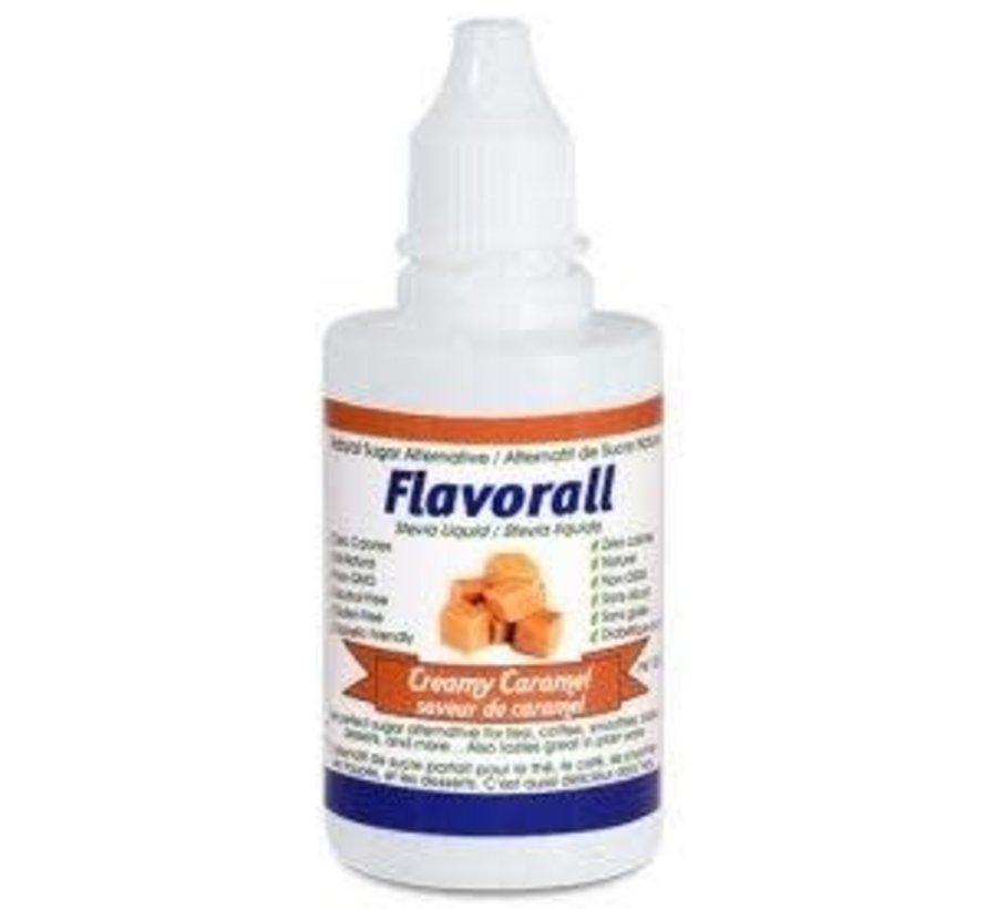 Gouttes de stévia liquide Flavorall saveur caramel, 50ml