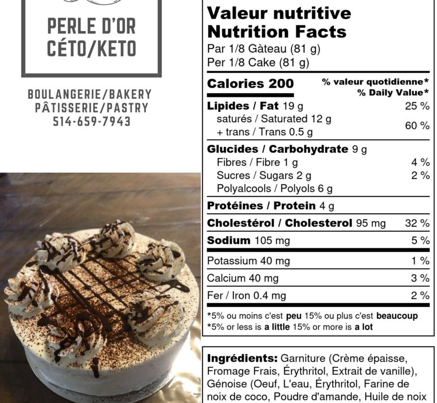 Gâteau à la vanille Keto / Cétogène (6-8 portions)