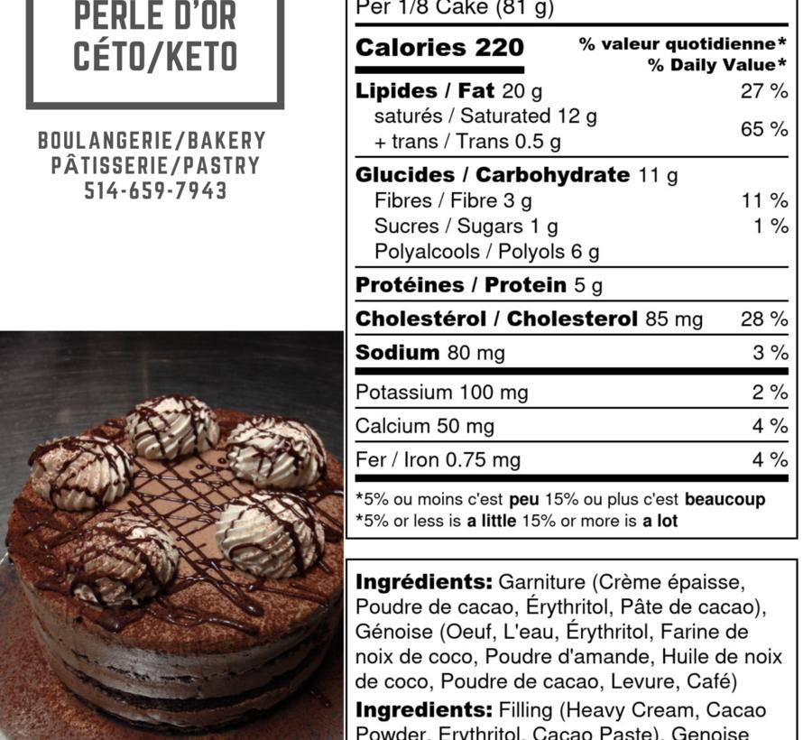 Gâteau mousse au chocolat Keto / Cétogène (6-8 portions)