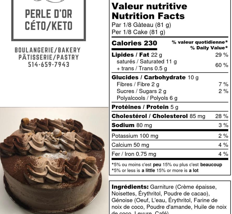 Gâteau praliné Keto / Cétogène (6-8 portions)