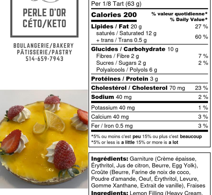 Tarte au citron Keto / Cétogène (6-8 portions)