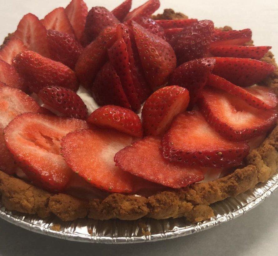 Tarte aux fraises Keto / Cétogène (6-8 portions)