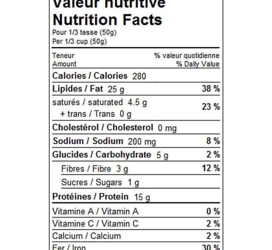 Graines de citrouille biologiques (rôties/salées), 205g