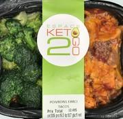 Keto2go Poivrons farci tacos Keto / Cétogène (glu: 11)
