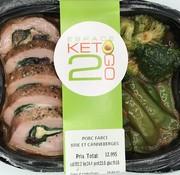 Keto2go Porc farci brie et canneberges Keto / Cétogène (glu: 11.08)