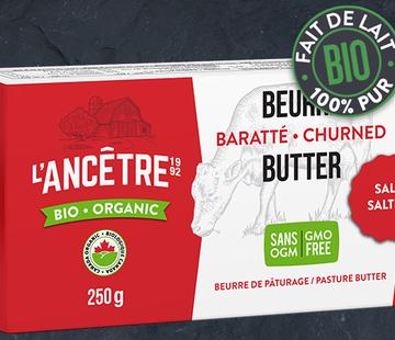 L'Ancêtre L'Ancêtre beurre de pâturage salé bio (454g)