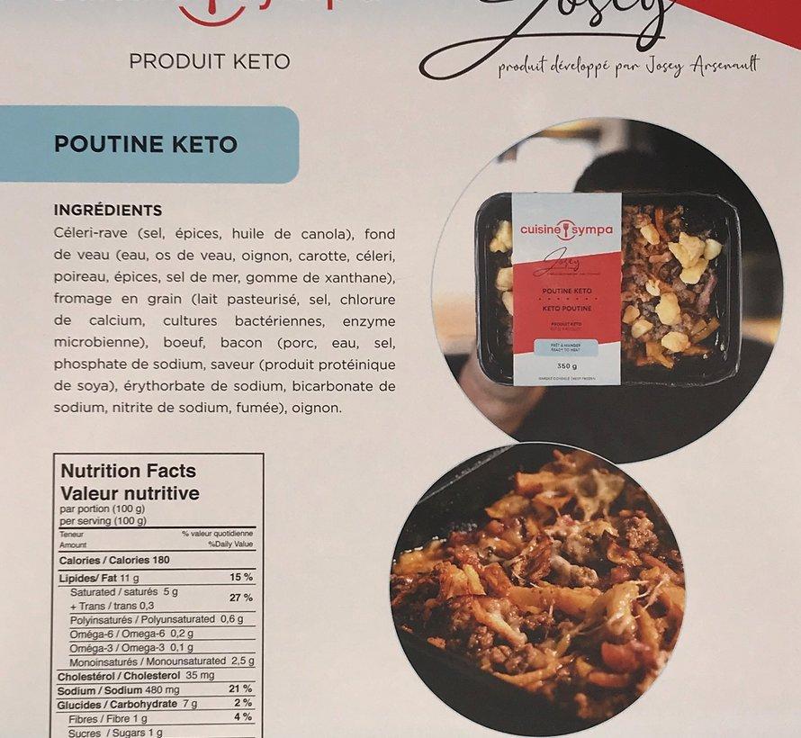 Poutine Keto, Cuisine sympa (glu: 21 g)
