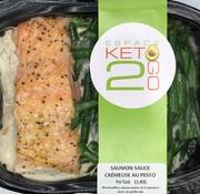 Keto2go Saumon sauce crémeuse au pesto Keto / Cétogène (glu: 5.0)