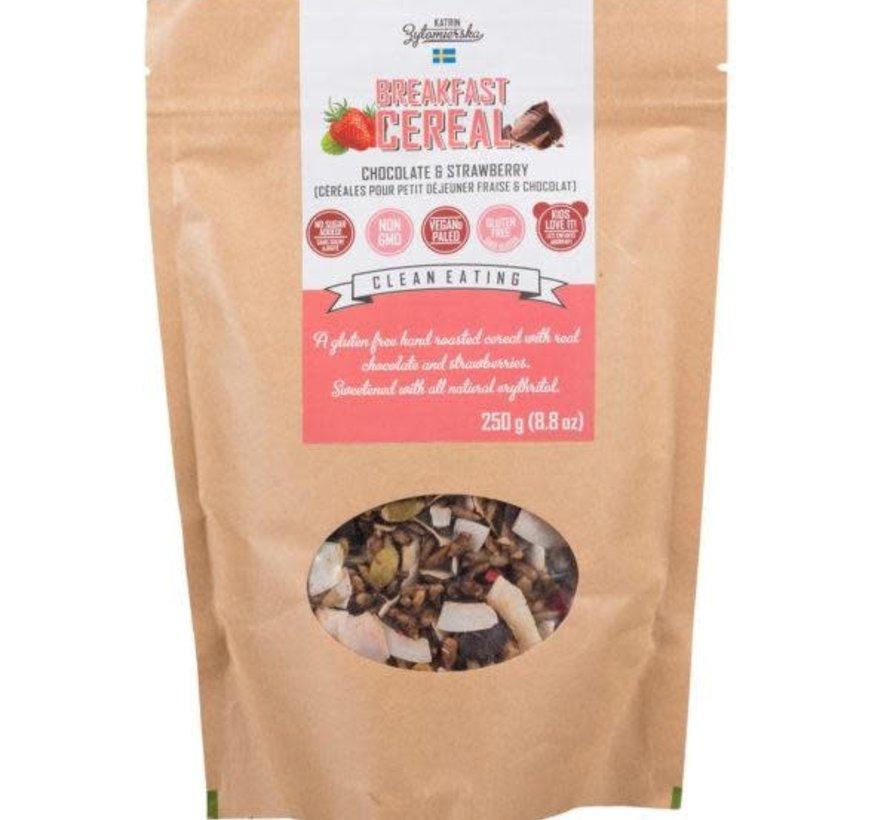 Céréales pour petit déjeuner fraise et chocolat, 250g