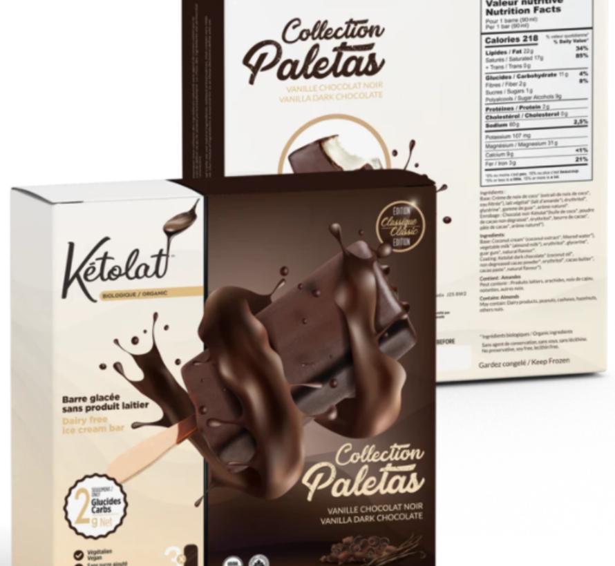 Barre glacée vanille et chocolat noir (3 x 90 ml)