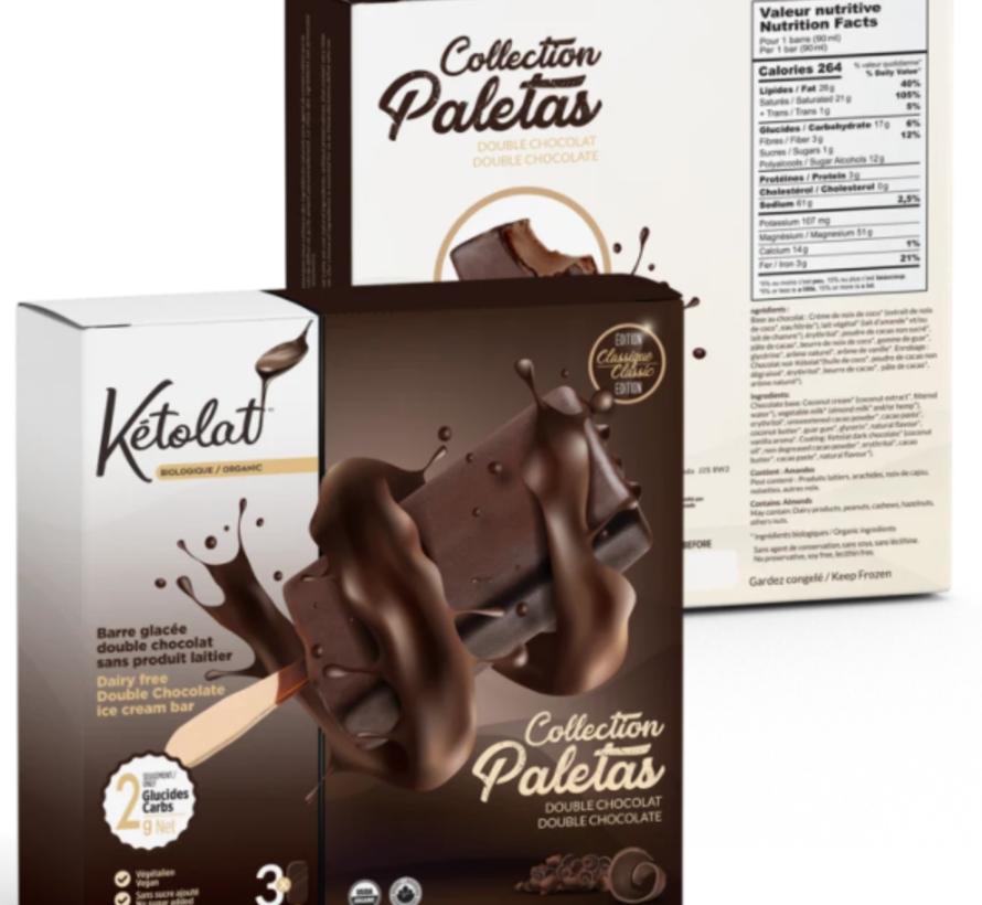 Barre glacée double chocolat (3 x 90 ml)