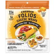 Folios Wraps de fromage cheddar sans lactose, Folios,  170g