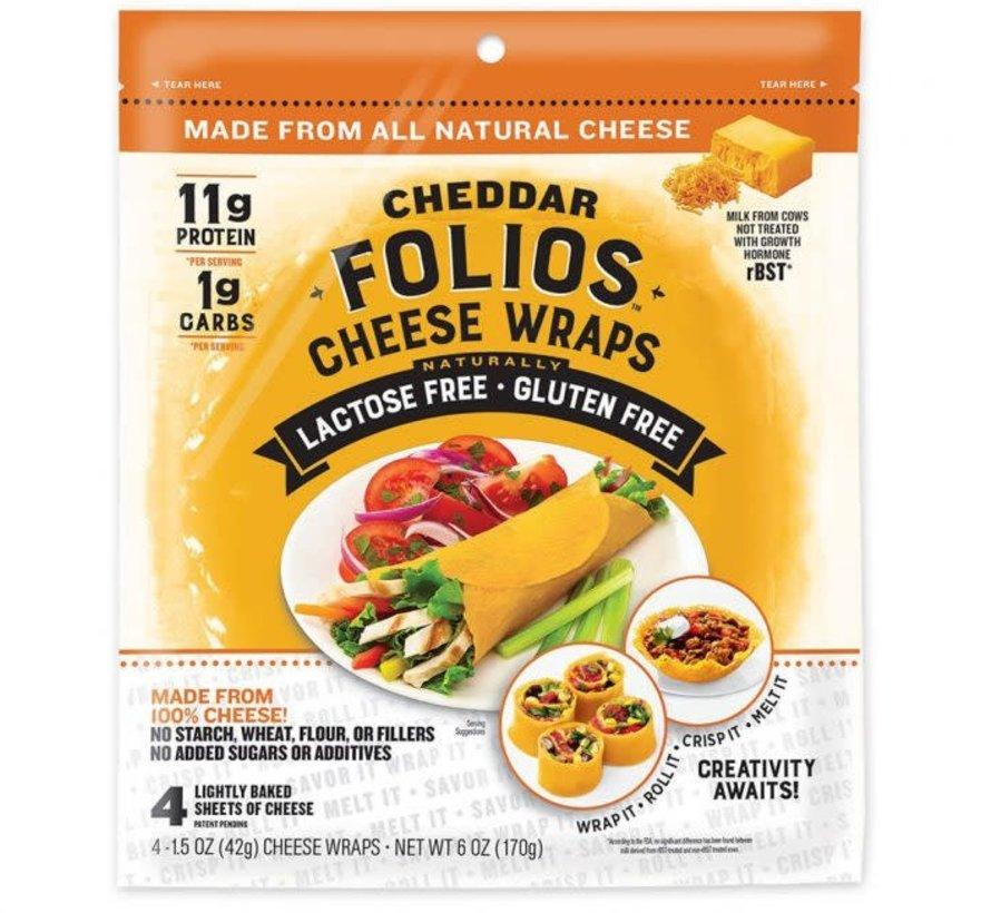 Wraps de fromage cheddar sans lactose, Folios,  170g