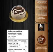 Crèmerie La Plaine Gâteau individuel glacé Keto/Cétogène (glu: 2 g)