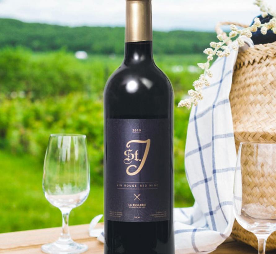 St.J, vin rouge tout en corps (glu: 5 g/L)