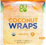 Nuco NUCO TURMERIC - Wraps de noix de coco bio, 70g (5 wraps)