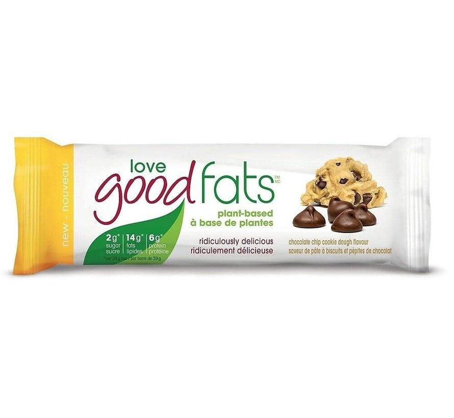 barres collation (39g - Love good fats) pâte à biscuit/pépites choco.