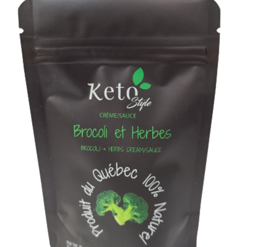 Mélange Crème/Sauce brocoli et herbes Keto/Cétogène (28 g)