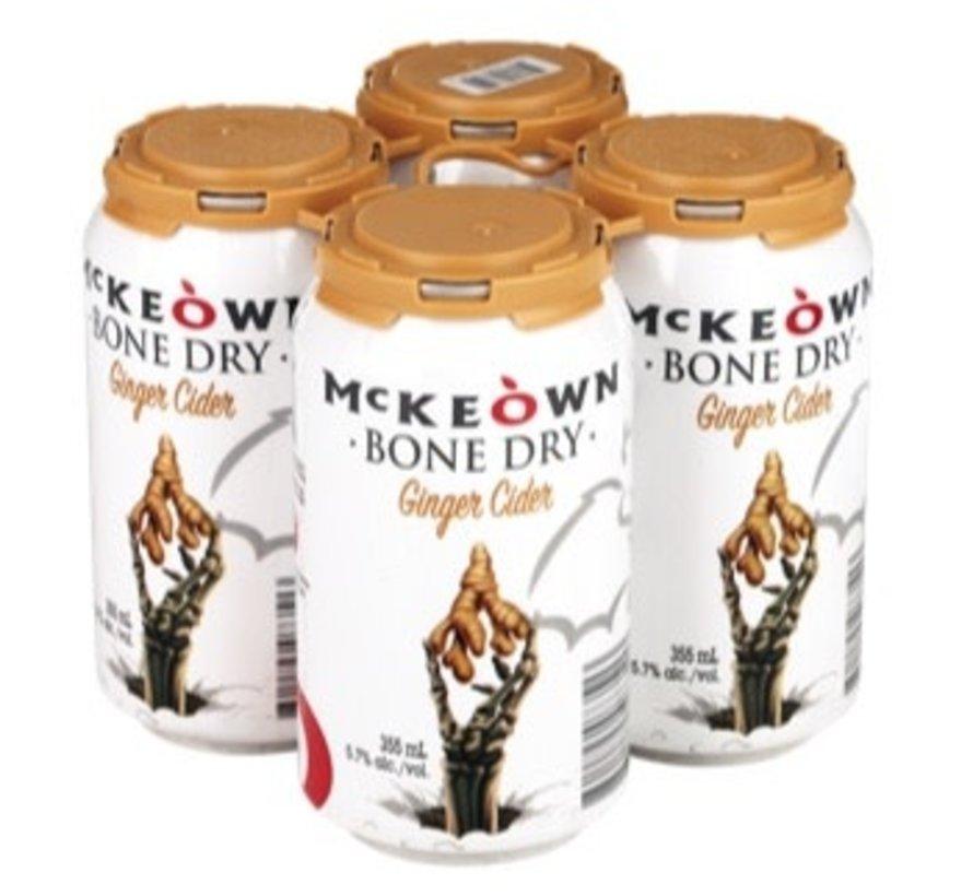 Cidre McKeown Bone Dry Gingembre, 4x355ml