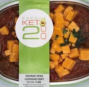 Keto2go Courge spaghetti au cheddar fort Keto / Cétogène (glu: 9,0 g)