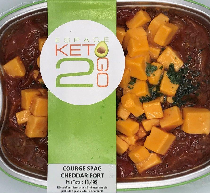 Courge spaghetti au cheddar fort Keto / Cétogène (glu: 9,0 g)