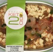 Keto2go Poutine aux crevettes et sa bisque Keto / Cétogène (glu: 6,0 g)