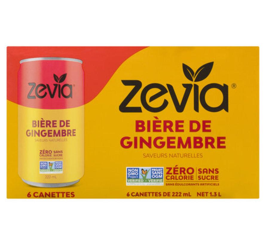 Zevia bière de gingembre (caisse de 6)