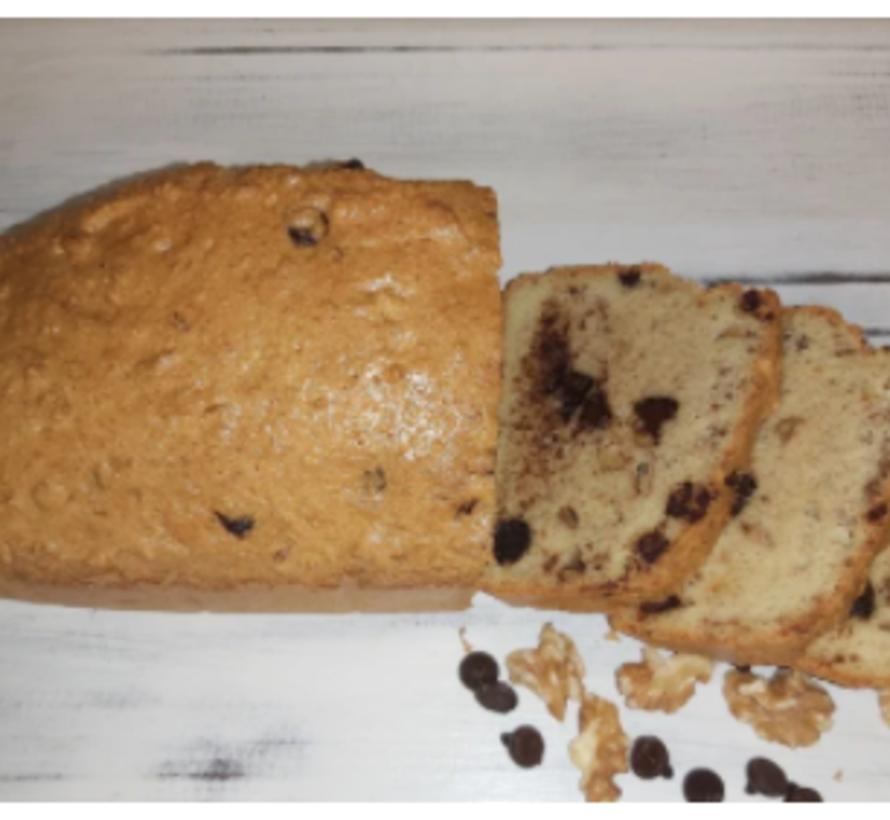 Pain au chocolat noir et noix de Grenoble Keto